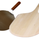 wood and metal pizza peel